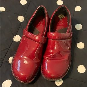 Red BOC clogs